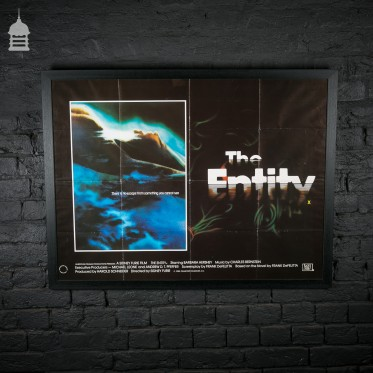 Original 'THE ENTITY' Quad Movie Poster in Black Frame