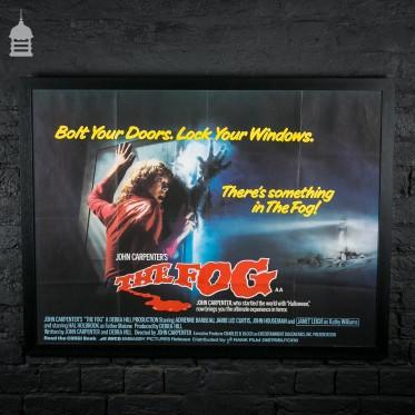 Original Framed 'THE FOG' Quad Movie Poster