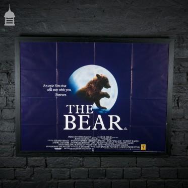 Framed Original 'THE BEAR' Quad Movie Poster