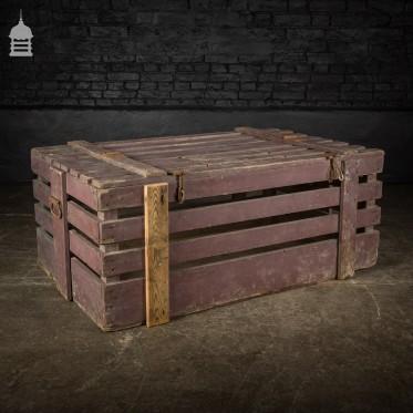 Bygone Vintage Wooden Poultry Crate
