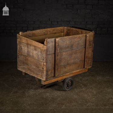 Hardwood Bygone Industrial Trolley Box