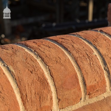 Handmade 'BRITANNIA' Norfolk Red Half Round Coping Bricks
