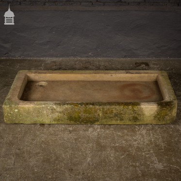 Sandstone Shallow Trough Sink Planter with Right Hand Return