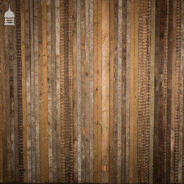 "2"" Pine Strip Wall Cladding Cut from Mixed Victorian Joists with Lath and Plaster Marks"