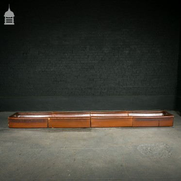 Unusually Long Sectional Salt Glazed Trough