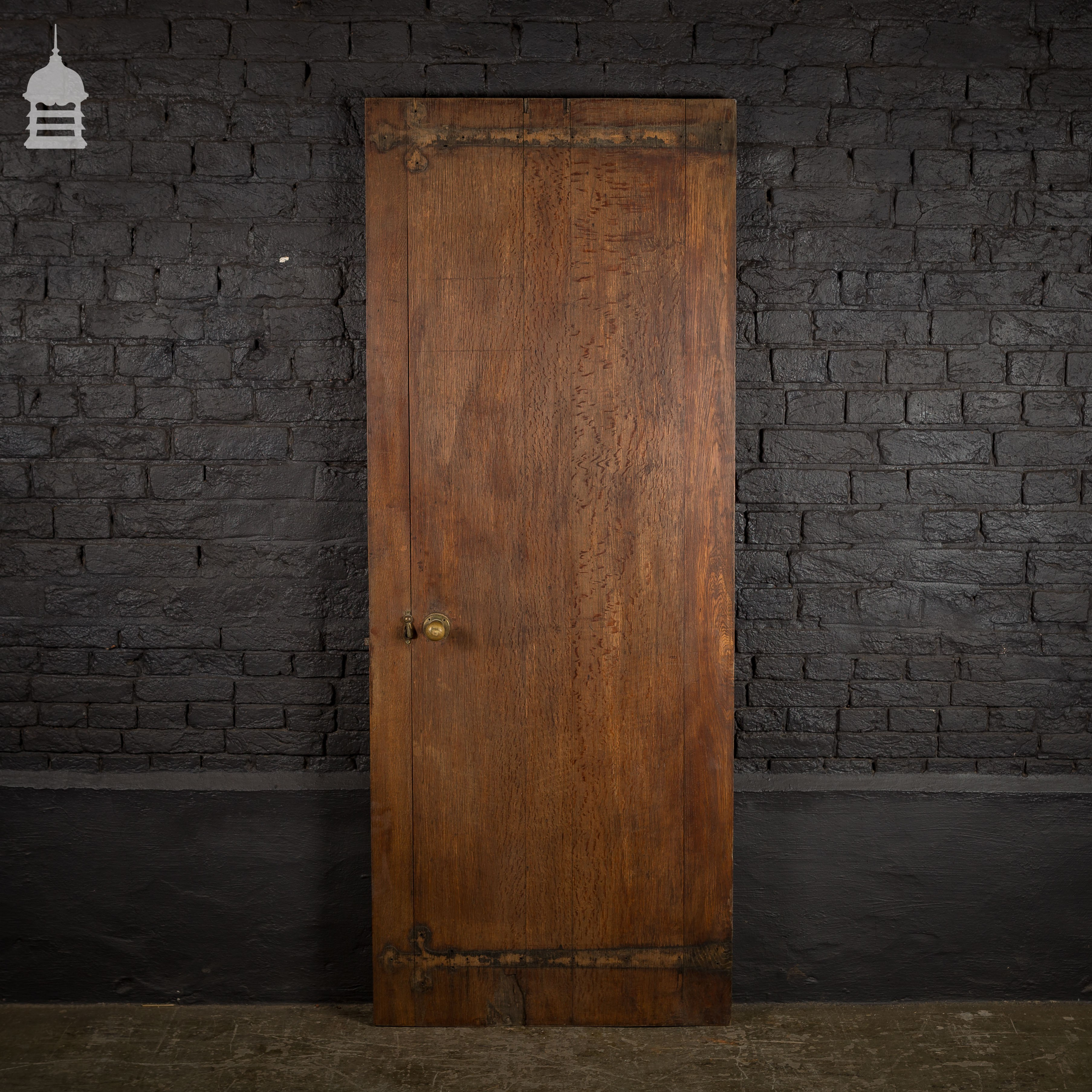 19th C Solid Oak Plank Door with Stop Chamfer Detail & 19th C Solid Oak Plank Door with Stop Chamfer Detail - Internal ...