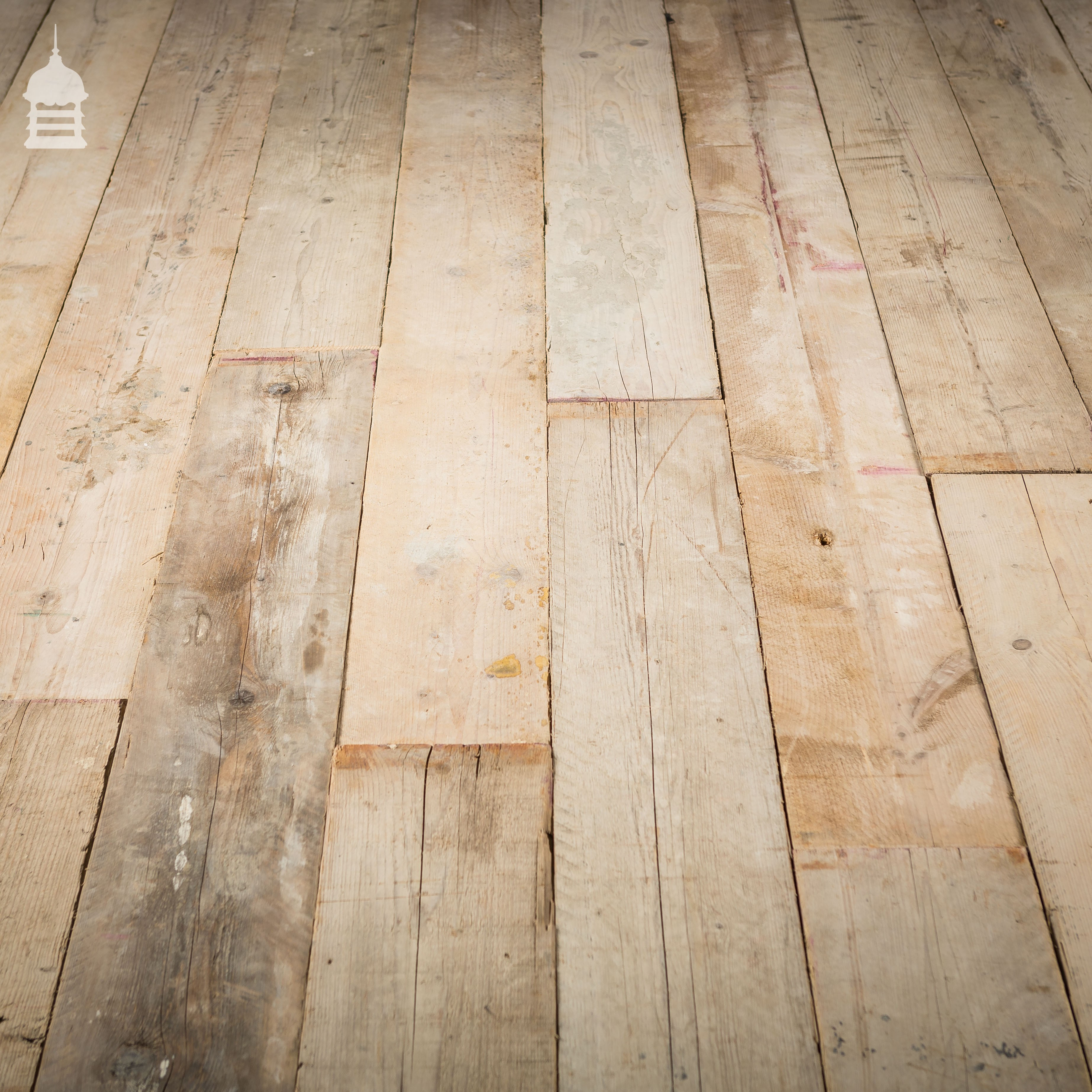 Reclaimed scaffold boards cut down to 20mm thick flooring for Reclaimed decking boards