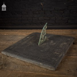 Rare Georgian Slate and Bronze Sundial Inscribed 'GEORGE ANDERSON' Dated 1818
