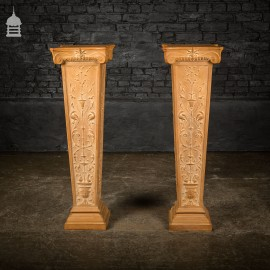 Pair of Early 20th C Terracotta Jardiniere Stands