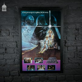 Rare Original 'STAR WARS' Movie Quad Poster in Black Frame