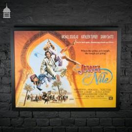 Original Framed 'JEWEL OF THE NILE' Quad Movie Poster