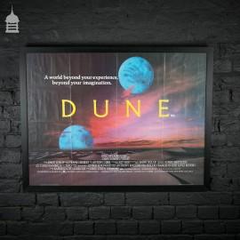Original 'DUNE' Quad Movie Poster in Black Frame