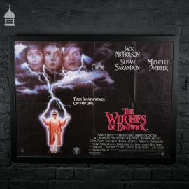 Original 'THE WITCHES OF EASTWICK' Quad Movie Poster in Black Frame