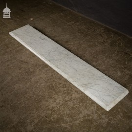 Victorian Carrera Marble Mantle Shelf Sill with Moulded Edge