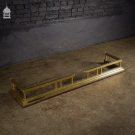 Large Brass Edwardian Fire Guard Fender