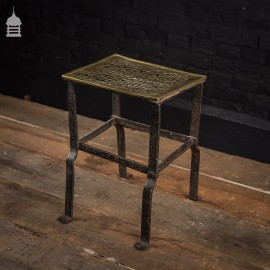 Regency Wrought Iron Footman with Decorative Brass Top