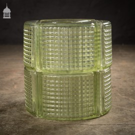 Batch of 17 Curved Glass Corner Blocks Bricks