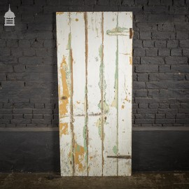 19th C Painted Pine Ledged Cottage Door