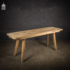 Early Victorian Elm Butchers Block Scullery Table