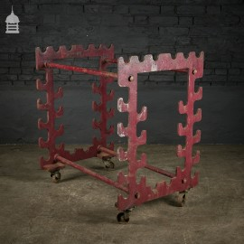 Heavy Duty Industrial Steel Rod Rack Trolley