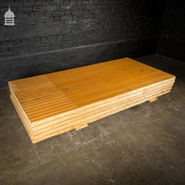 2 Metre Length of Reclaimed Pitch Pine Bowling Alley Section