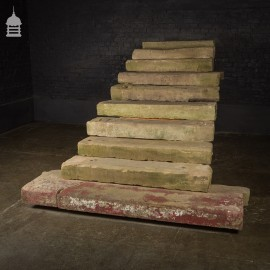 Set of 10 Reclaimed Sandstone Steps Treads from a Georgian Property in Norfolk