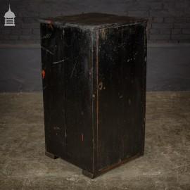Black Painted Industrial Workshop Industrial Cupboard