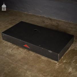 Large 1950's Industrial Granite Surface Plate Worktop