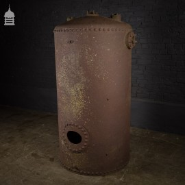 Large Rivetted Victorian Industrial Boiler Water Tank