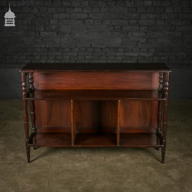 19th C Mahogany Sideboard with Turned Legs