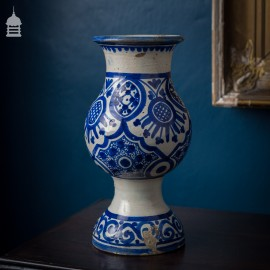 18th Century Elegant Blue and White Vase