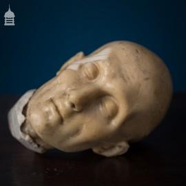 Small Victorian Wax Waxwork Head