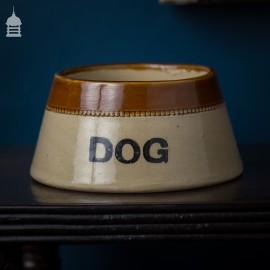 Vintage Ceramic Dog Bowl