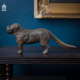 Edwardian Bronze Table Top Dog Nutcracker