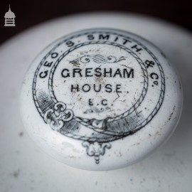 19th C Ceramic Gresham House Paper Weight