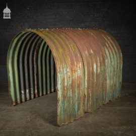 Second World War Era Corrugated Steel WWII Bomb Shelter