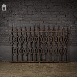 Victorian Cast Iron Folding Security Window Gates Shutters with Finials