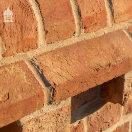 Handmade 'BRITANNIA' Norfolk Red Plinth Stretcher Bricks