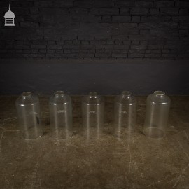 Set of 5 Vintage Industrial Glass Tubes Measuring Cylinders