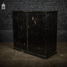 Large Industrial Workshop Cupboard Cabinet with Black Paint Finish