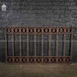 Decorative 19th C Blacksmith made Wrought Iron Railing Panel