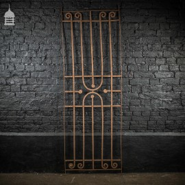 Georgian Blacksmith made Wrought Iron Railing Panel