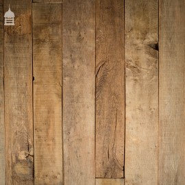 Rustic Seasoned Oak Floorboards Wall Cladding with a Brushed Finish