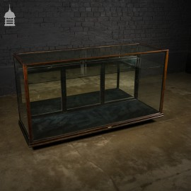 19th C Mahogany Shop Display Cabinet with Mirrored Back