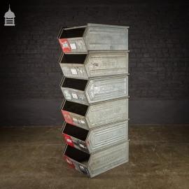 Industrial Galvanised Stackable Storage Bins Drawers