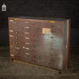 Vintage Industrial Workshop Drawers Unit with Pull Out Work Top