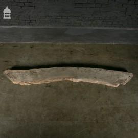 Wide Curved Antique Oak Beam Brace