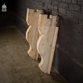 Large Pair of Carved Stripped Pine Brackets Gallows Brackets