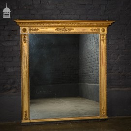 Large 18th C Elegant Regency Gilt Pier Mirror