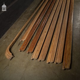 Batch of 116 Linear Feet of Original Ornate Pitch Pine Hand Rail